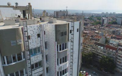 Съмнителен стиропор влаган в санираните високи блокове
