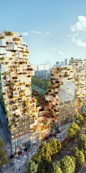 Уникална сграда с хаотична стъклена фасада