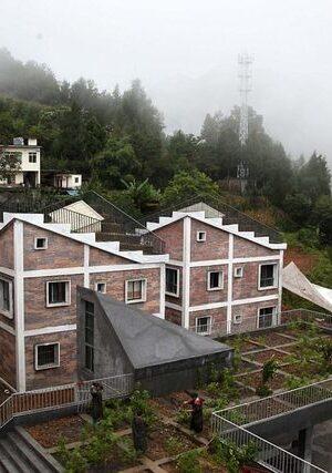 В Китай построиха къщи с ферма на покрива