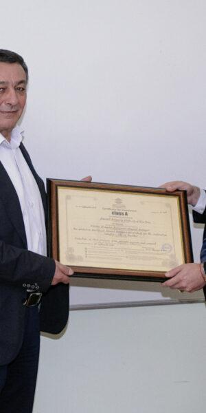 """Баумит България ЕООД получи сертификат """"Инвеститор """"Клас А"""" за изграждането на нов завод за сухи строителни смеси в Ямбол"""
